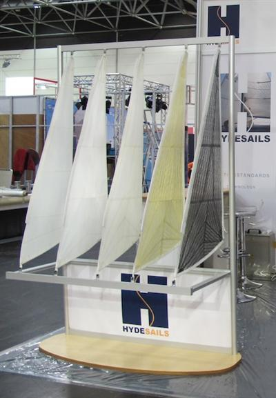 boatshow sail display