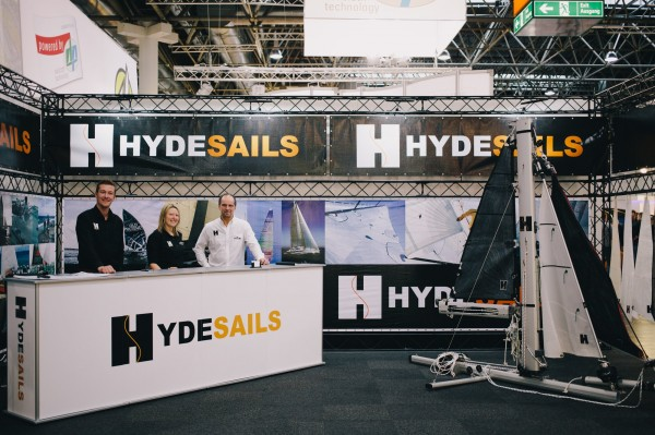 Big boat quotes at Dusseldorf Boat Show for Hyde Sails