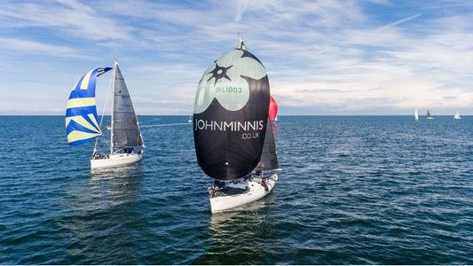 Hyde Spinnakers Leading The Fleet